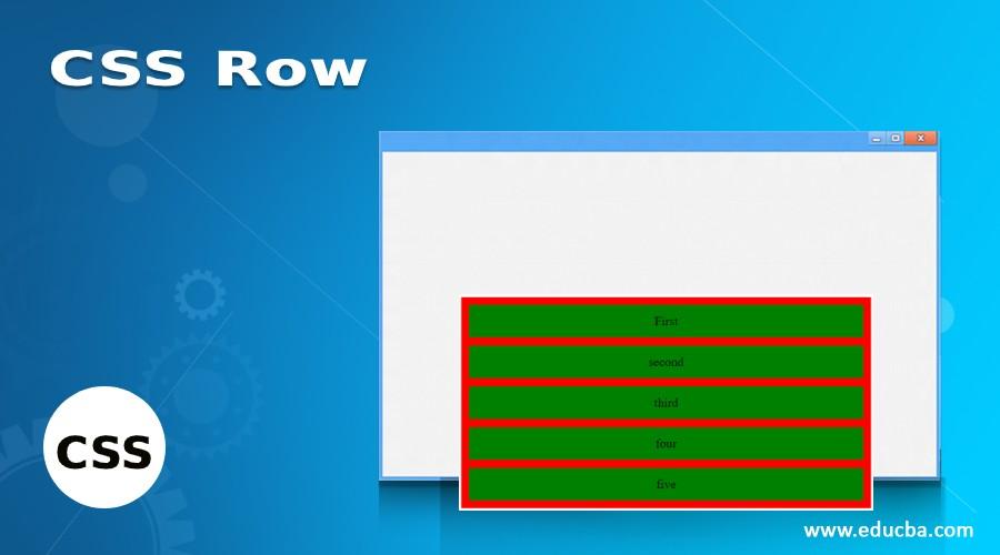 CSS Row