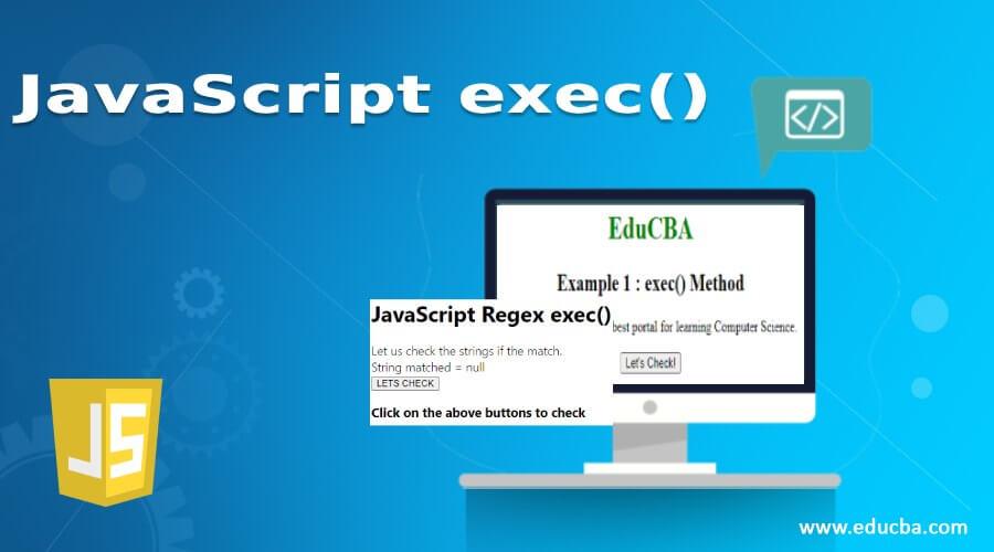 JavaScript exec()