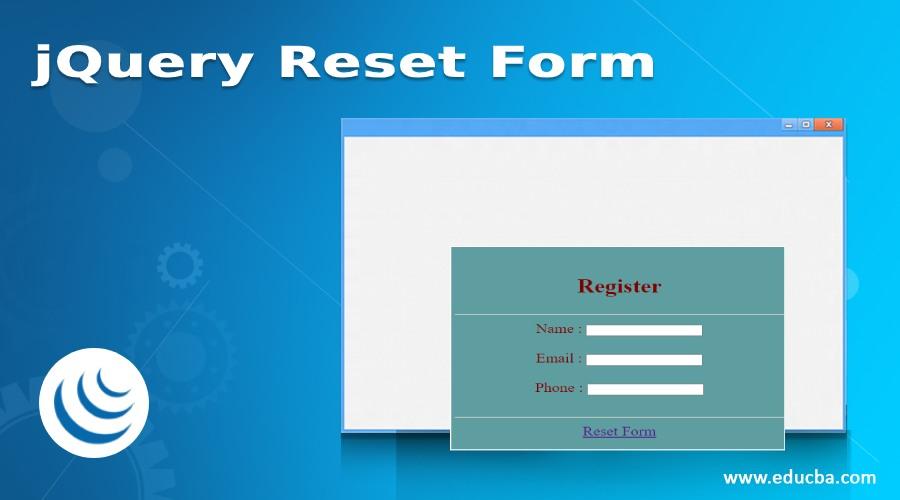 jQuery Reset Form