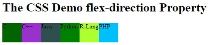 CSS flex-direction 2