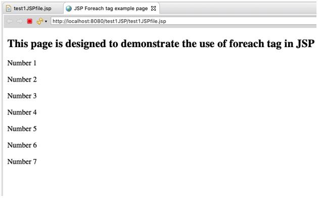 JSP foreach output 2