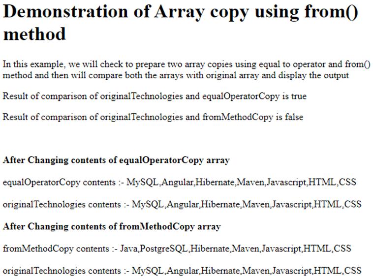 JavaScript Copy Array-1.2