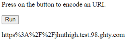 JavaScript encodeURI()-1.2