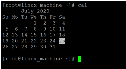 Linux Cal Command-1.1