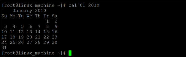 Linux Cal Command-1.2
