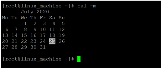Linux Cal Command-1.3