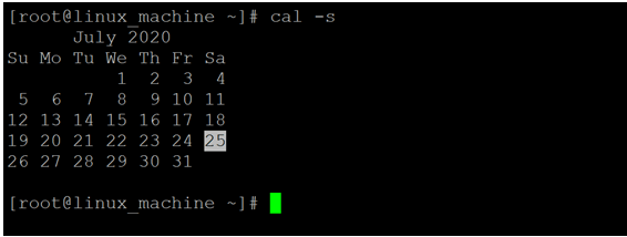 Linux Cal Command-1.4