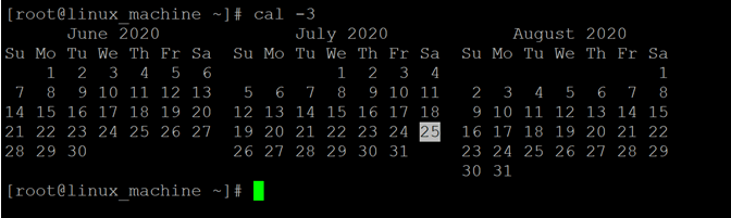 Linux Cal Command-1.5