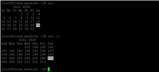 Linux Cal Command-1.6