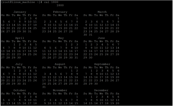 Linux Cal Command-1.7
