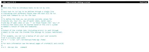Linux Crontab output 1