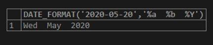 MySQL DATE_FORMAT() 1