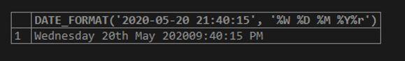 MySQL DATE_FORMAT() 4