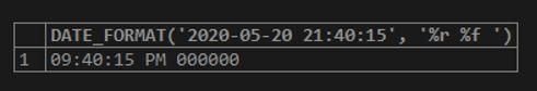 MySQL DATE_FORMAT() 5