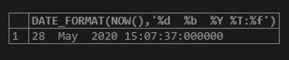 MySQL DATE_FORMAT() 8