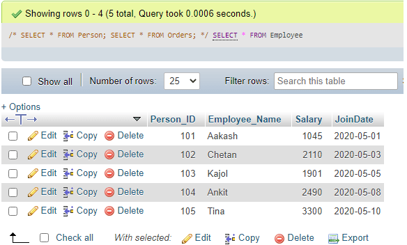 MySQL DDL - 13