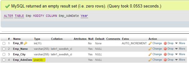 MySQL DDL - 6