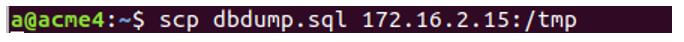 Copy dumped file to slave node