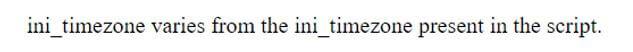 PHP timezone 1