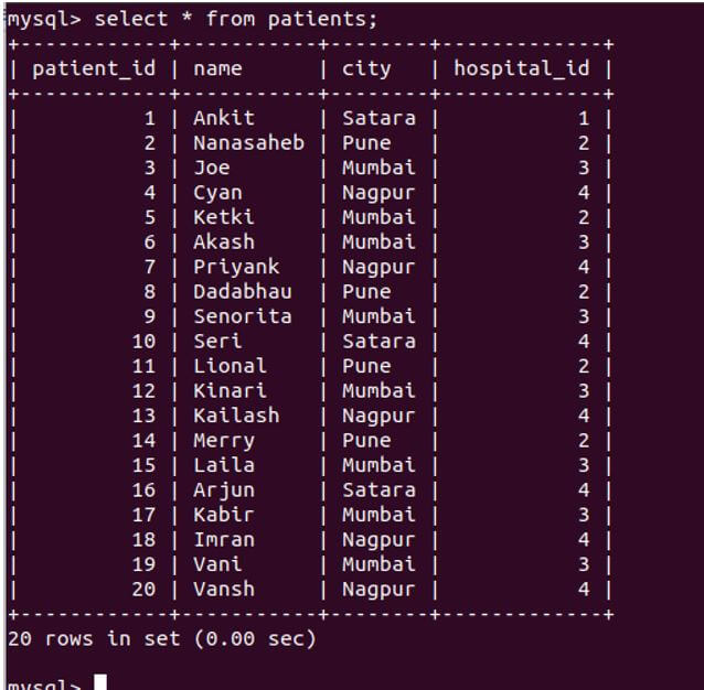 SQL INTERSECT 7
