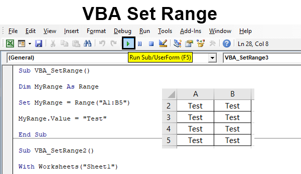 VBA Set Range