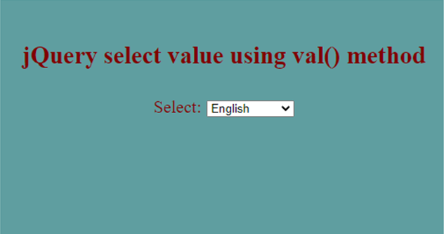 jQuery Select Value-1.1