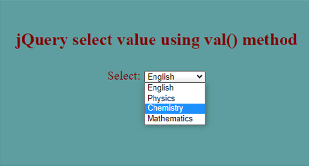 jQuery Select Value-1.2