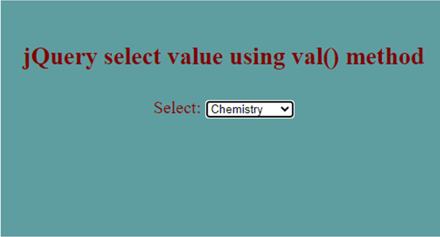 jQuery Select Value-1.4