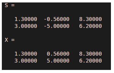 array of vectors
