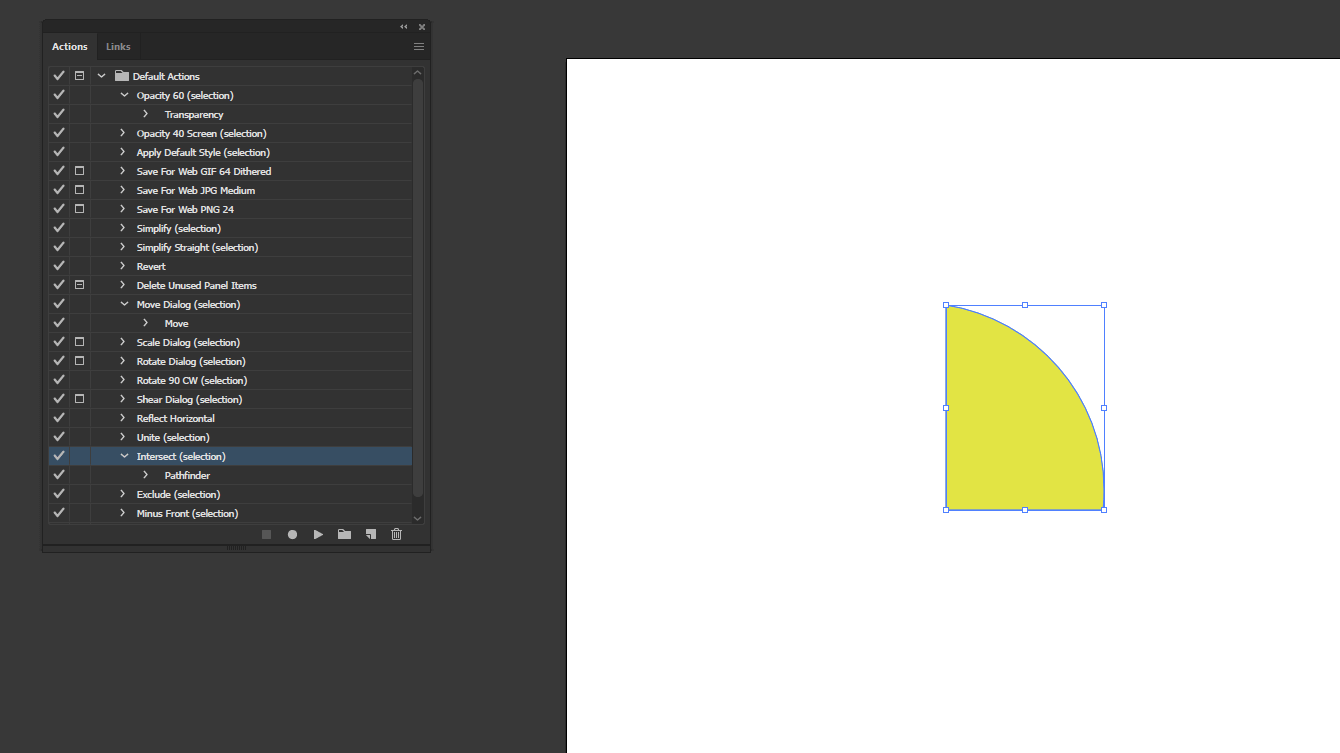 Action in Illustrator output 11