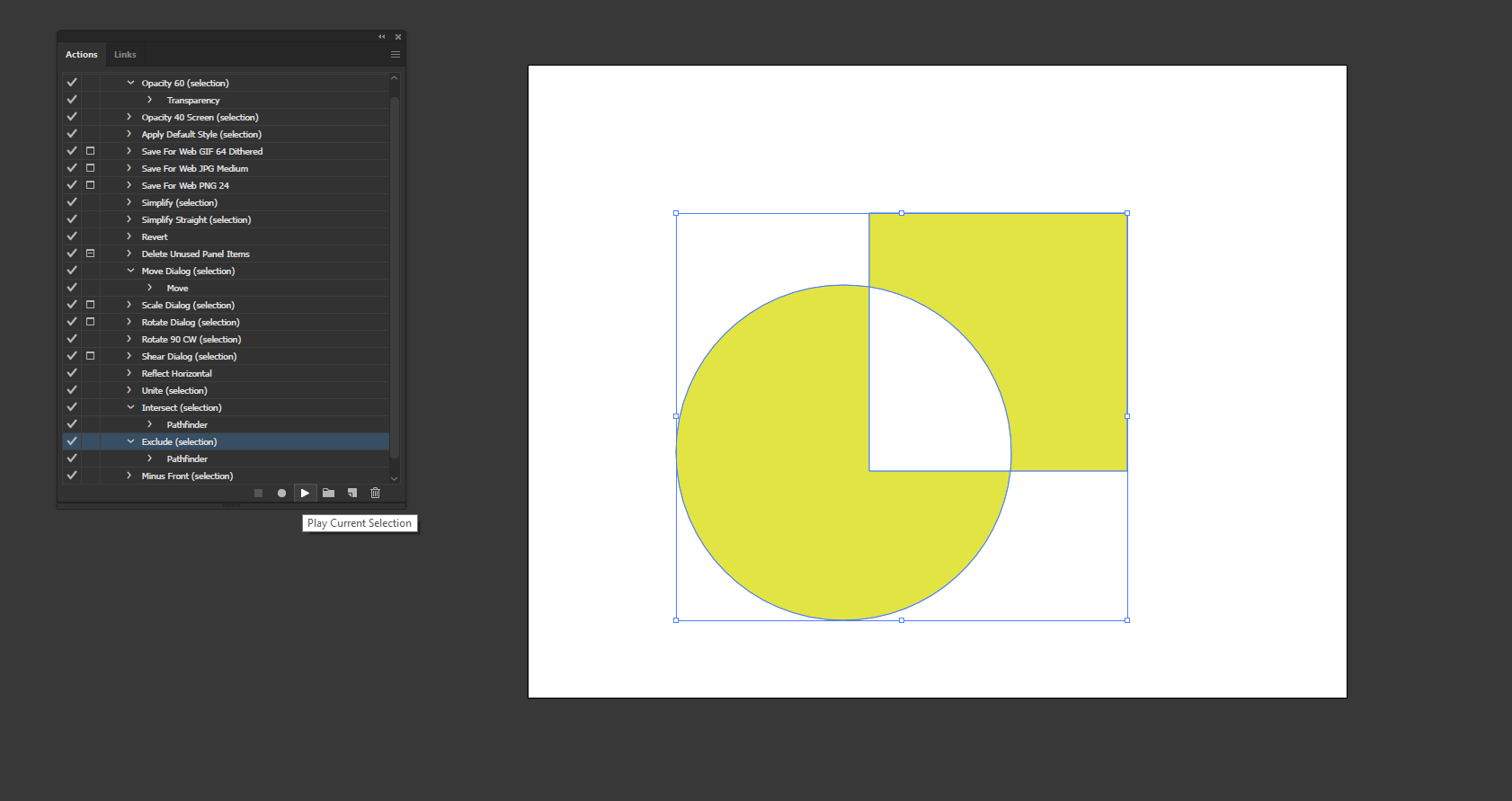 Action in Illustrator output 12