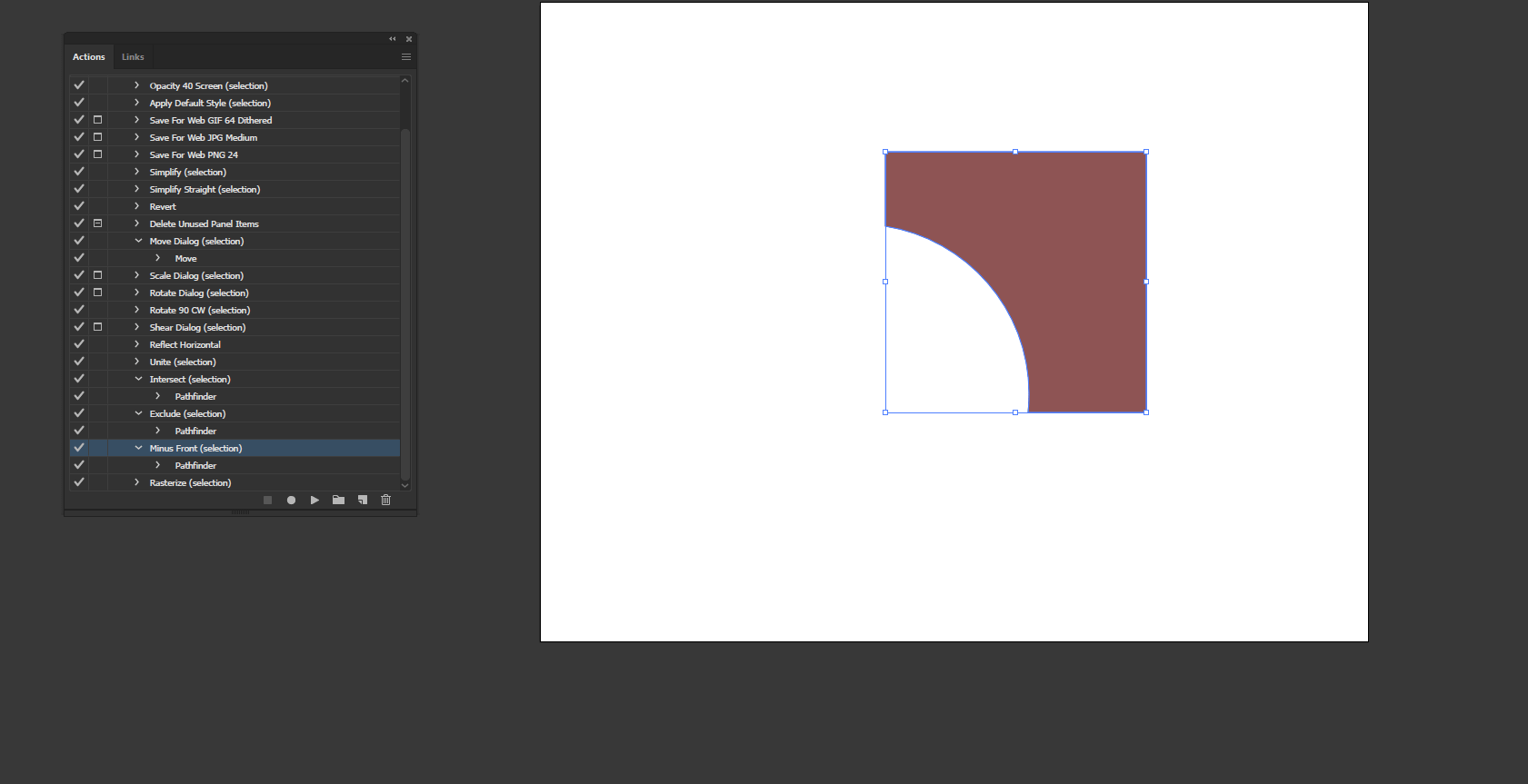 Action in Illustrator output 13
