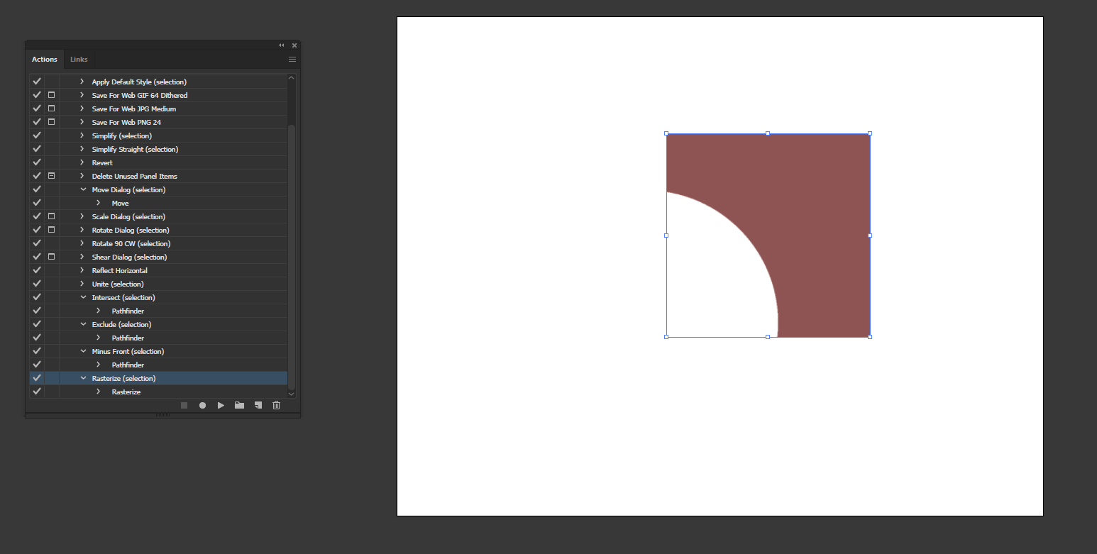 Action in Illustrator output 14