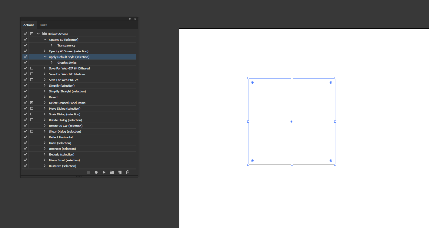 Action in Illustrator output 6
