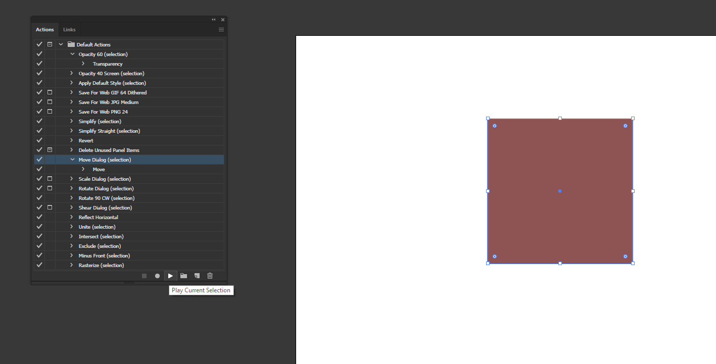 Action in Illustrator output 9