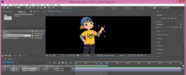After Effects Cartoon output 10