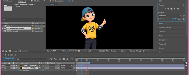 After Effects Cartoon output 12