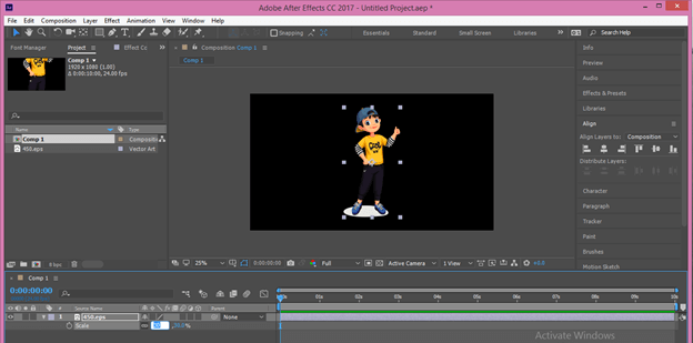 After Effects Cartoon output 15