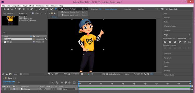 After Effects Cartoon output 16