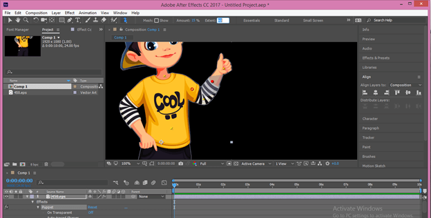 After Effects Cartoon output 20