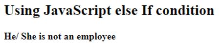 JavaScript elseIf-2.2