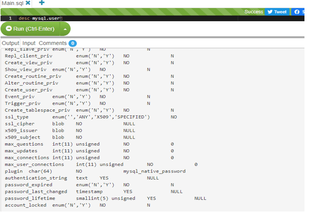 MySQL List User - 2