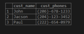 PostgreSQLString Array output 3