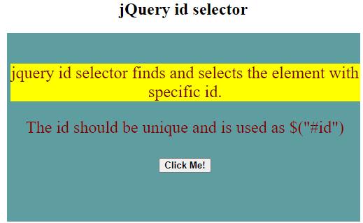 jQuery id Selector-1.2