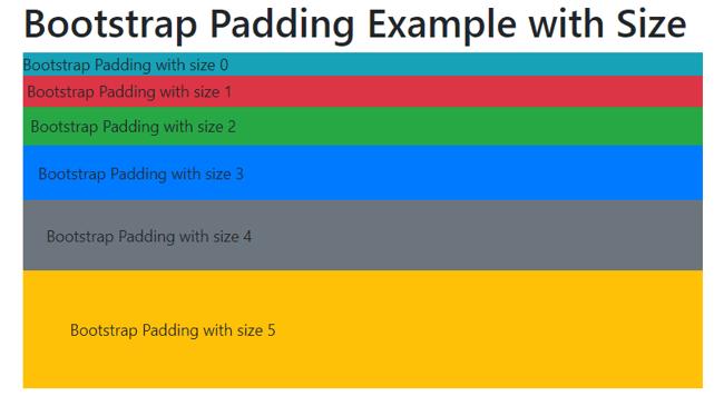 Bootstrap Padding 1