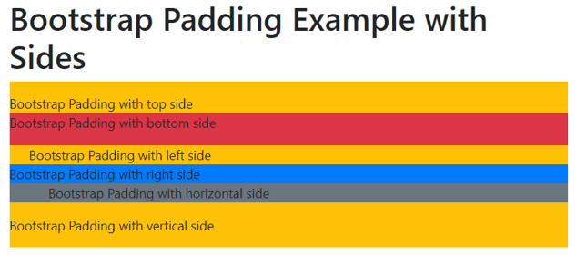 Bootstrap Padding 2