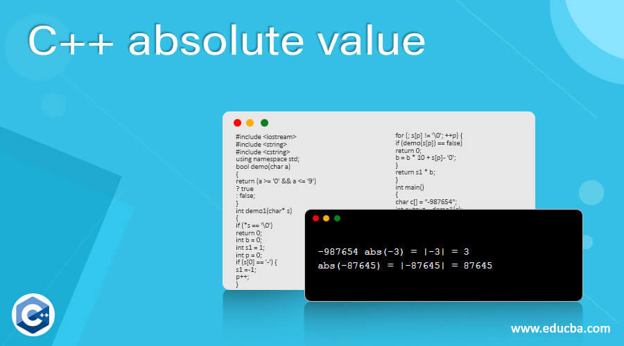 C++ absolute value