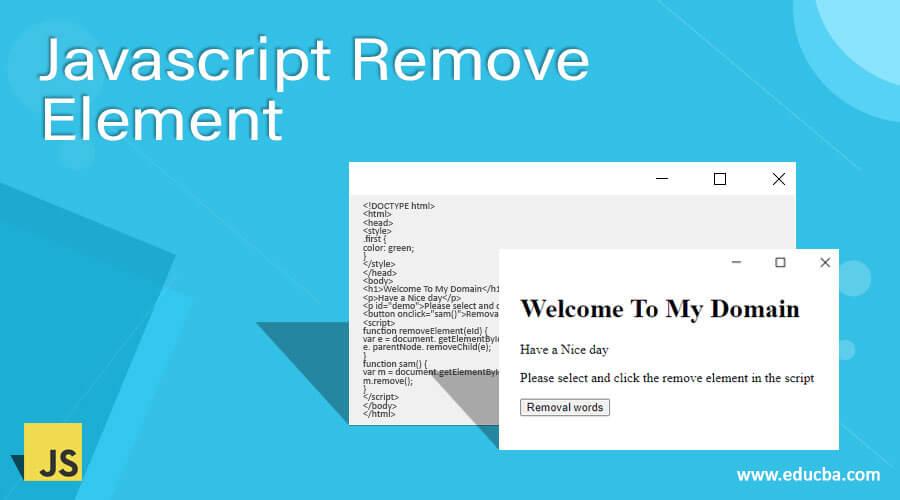 Javascript Remove Element