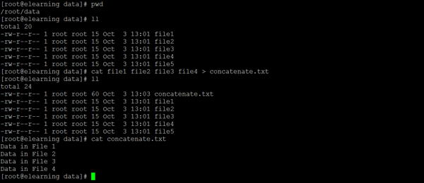 Linux Concatenate Files 1