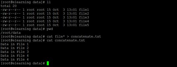 Linux Concatenate Files 2